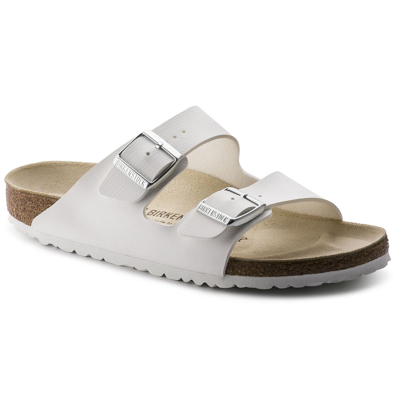 a93c4733 Birkenstock Arizona Dame Sandal i Hvid Birkoflor → Køb billigt her