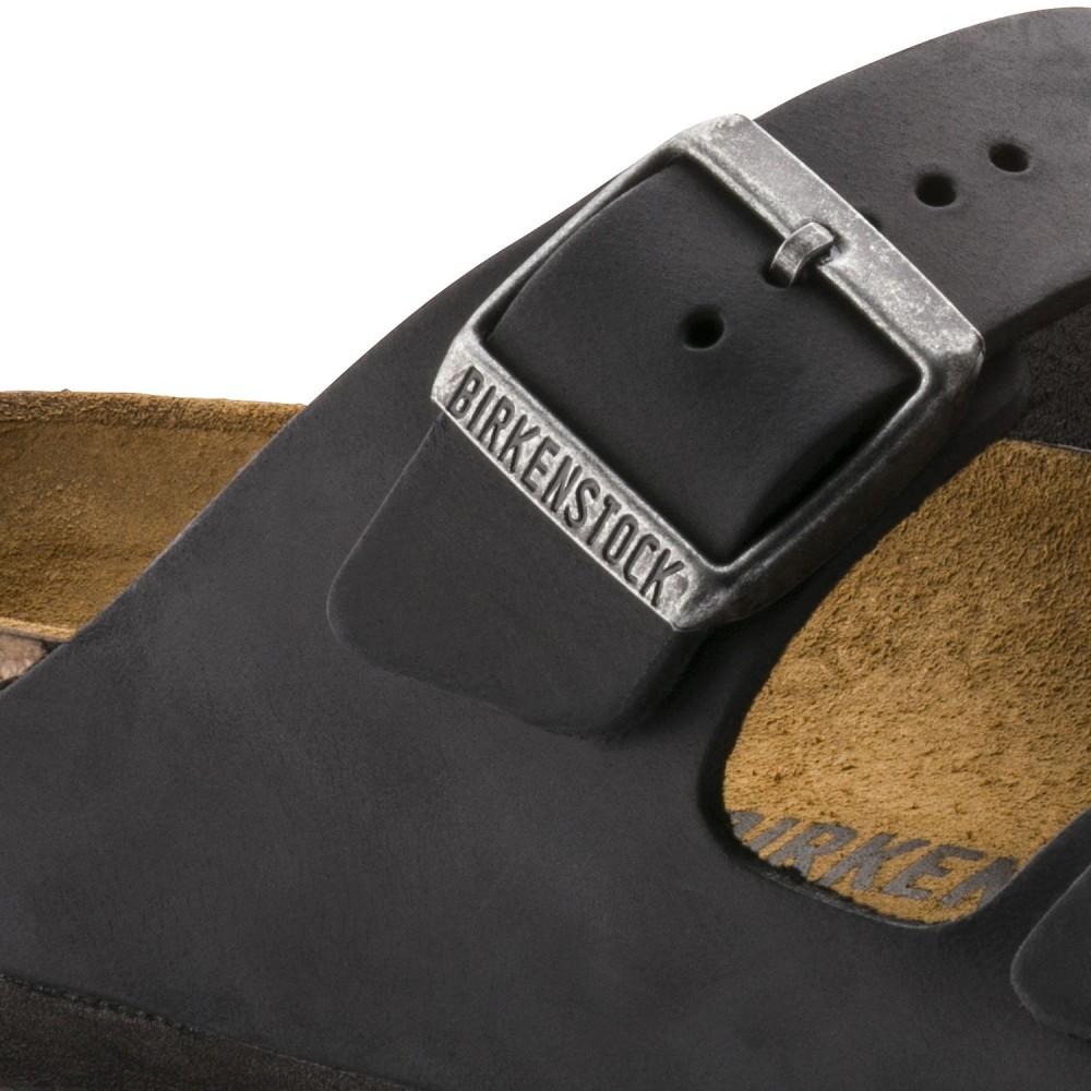 Birkenstock Arizona Dame Sandal Sort Oiled Leather-30