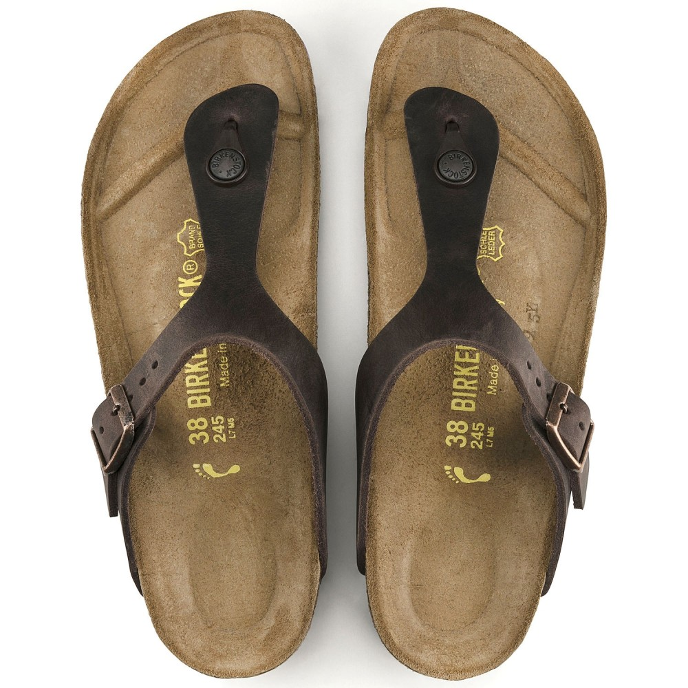 Birkenstock Gizeh Dame Sandal Habana Oiled Leather-32