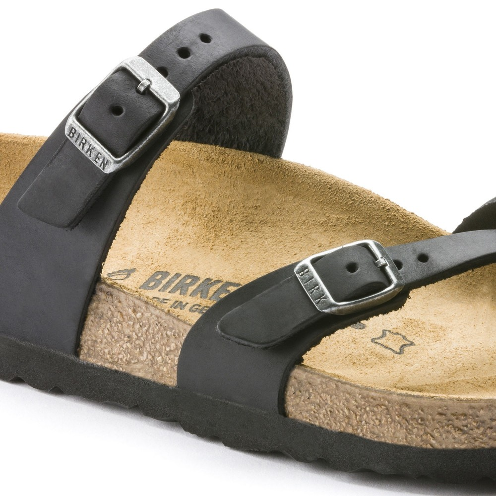 Birkenstock Mayari Dame Sandal Sort Oiled Leather-31