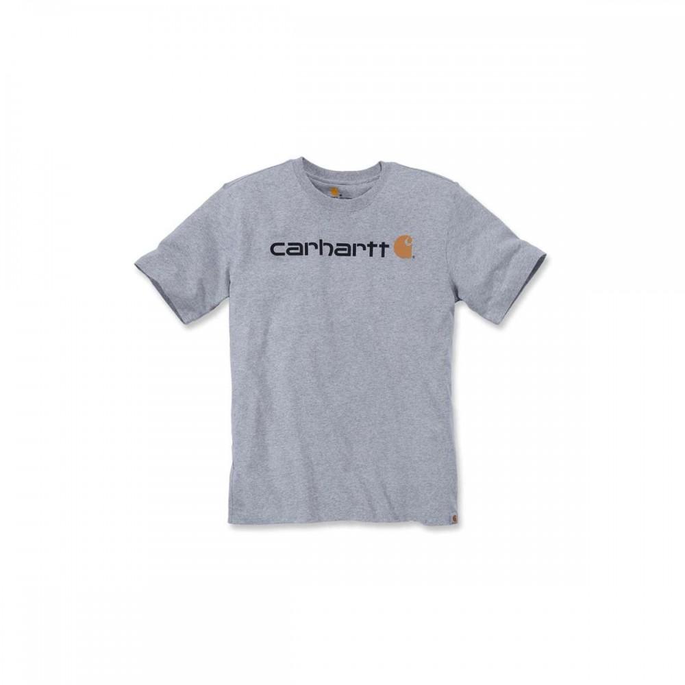 CARHARTTCORELOGOTSHIRTSSHEATHERGREY-31