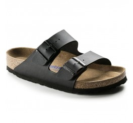 Birkenstock Arizona Dame Sandal Sort Oiled Leather-20
