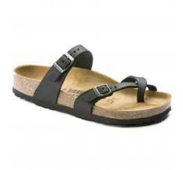Birkenstock Mayari Dame Sandal Sort Oiled Leather-20