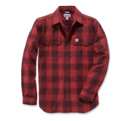 carharttHUBBARDSLIMFITFLANNELSHIRTred-20