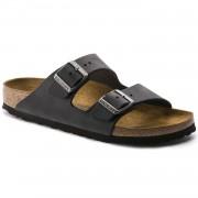 Birkenstock Arizona Dame Sandal Sort Oiled Leather-00