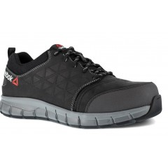REEBOK BLACK LEATHER OXFORD Sikkerhedssko