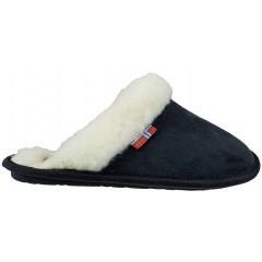 NORWAY ORIGINALS® sort slippers m/pelskant