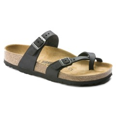 Birkenstock Mayari Dame Sandal Sort Oiled Leather