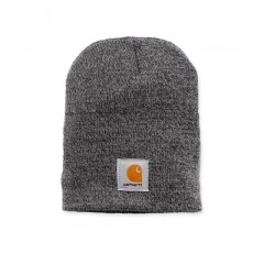 CARHARTT ACRYLIC KNIT HAT GREY COAL