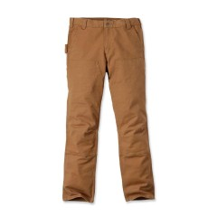 carhartt STRETCH DUCK DOUBLE FRONT pants i CARHARTT BROWN