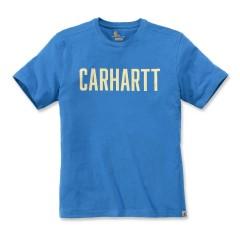 CARHARTT CARHARTT SOUTHERN BLOCK LOGO T-SHIRT S/S BOLT BLUE