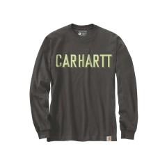 CARHARTT WORKWEAR LOGO L/S T-SHIRT PEAT