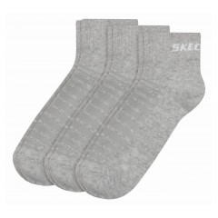 Skechers Basic Sock Quarter 3 Pair Pack grey